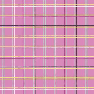 Art Gallery Fabrics Playing Pop 2285 Plaid Beat Grape