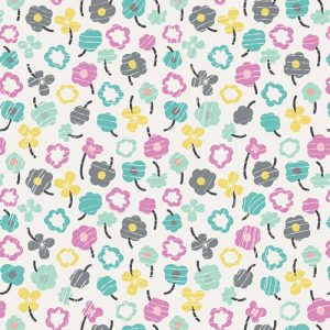Art Gallery Fabrics Playing Pop 2287 Waving Buds Glazed