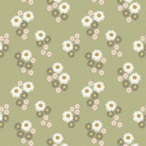 Daisies On Sage Green FLO12.4