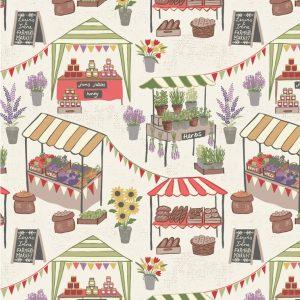 Farmers Market On Light Cream A209.1