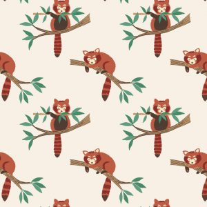 Lewis and Irene Minshan A118 1 Red panda on natural