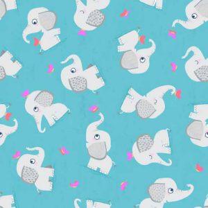 Makower Flo's Friends 1630 Elephants