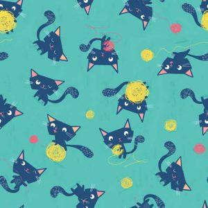 Makower Flo's Friends 1632 Cats