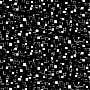 Makower Monochrome 1828 Squares Black