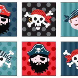 Makower Pirates 1675 Labels