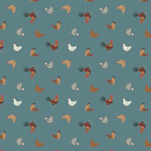 Small things on the Farm SM1.3 - Hens On Teal