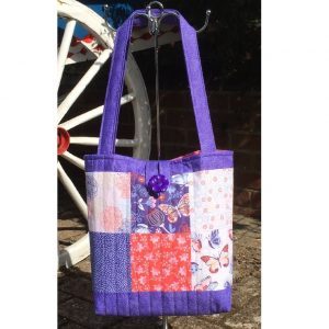 Patchwork Quilted Tote Bag Kit Butterfly