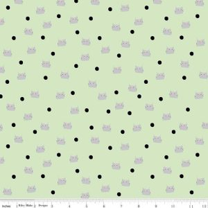 Meow and Forever Dots Green C7844