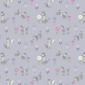A362.2 Poodle on lilac