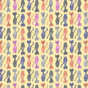 A363.2 Tall cats on yellow