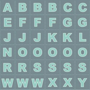 Glow letters blue C49.3