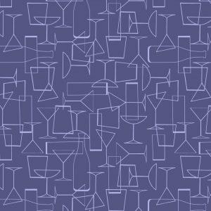 Cocktail Glasses on Dark Violet A351.3