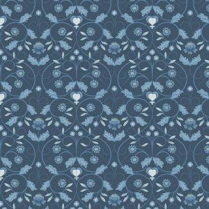 Mono Floral Blue A402.3