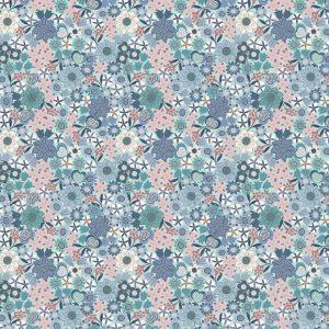 Multi Floral on Light Blue A401.1
