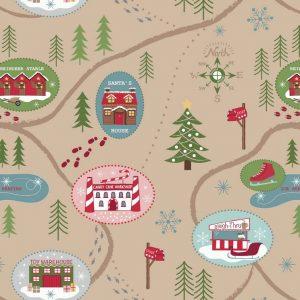 Santa Map On Parchment C13.2