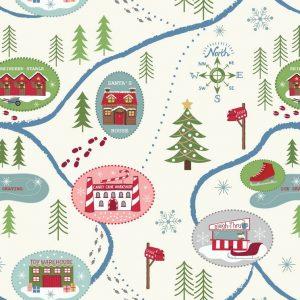 Santa Map On Snow C13.1