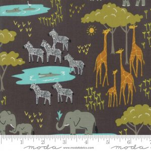 Water Hole Scene Black 20643 15