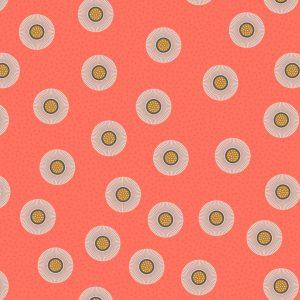 Dark coral flower dots A410.3