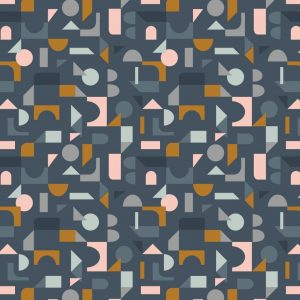 Scattered geometric on navy A412.3