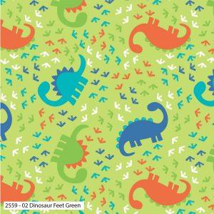 Dinosaur Feet Green