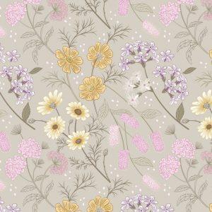 Garden floral on linen A457.1