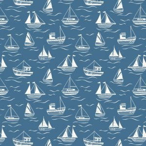Boats on dark blue A467.3