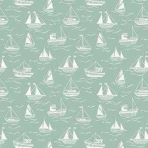 Boats on sea sea green A467.2