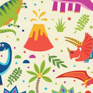 Dino world on Cream