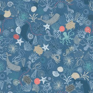 Under the sea on dark blue A463.3