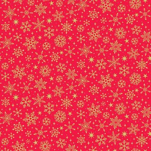 Yultide Red Snowflakes 2246 R