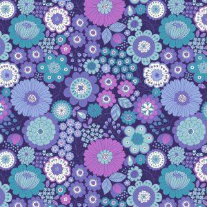 Far out floral blues A435.3