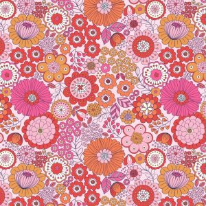 Far out floral pinks A435.2