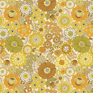 Far out floral yellows A435.1